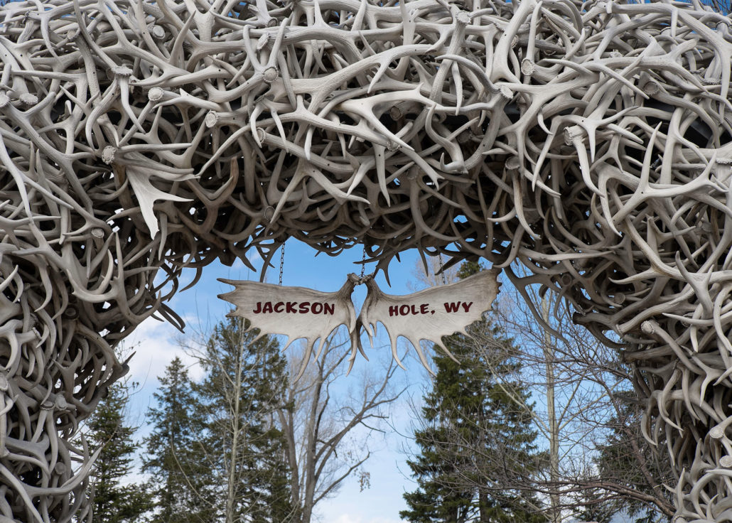 The Antler Arches in Jackson's Town Square