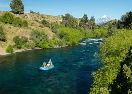 TCCGJH Patagonia River Ranch - Fishing Boat on the River
